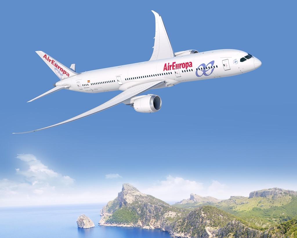 Air Europa Boeing 787-9 látványterv, híres mallorcai látképpel. (Forrás: Boeing Company) | © AIRportal.hu
