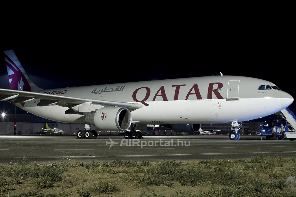 A Qatar Cargo 2012. június 30-án landolt először Ferihegyen, A300F típusával. (Fotó: Samu Ádám - AIRportal.hu) | © AIRportal.hu