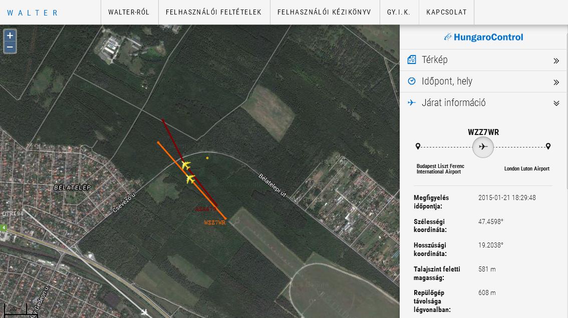 Near miss: Rettegés Bélatelep felett. Ha erre a Blikk rátalál... | © AIRportal.hu