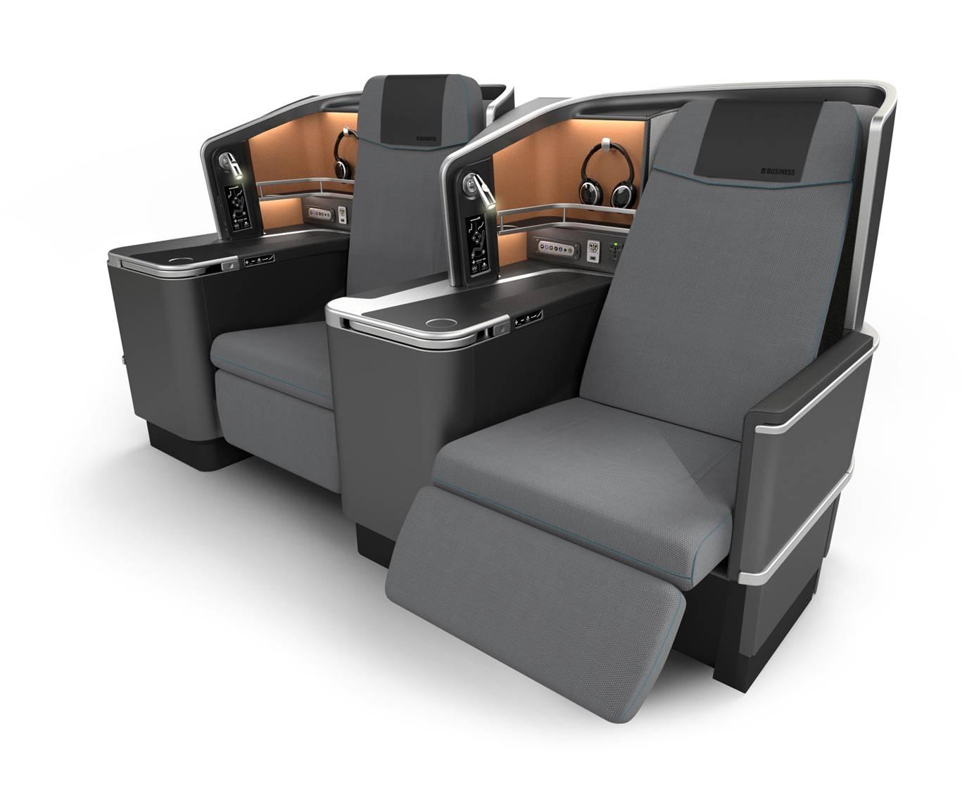 Valamint a vadonatúj SAS Business, masszázs funkciós, sík ággyá alakítható ülések. (Fotó: SAS) | © AIRportal.hu
