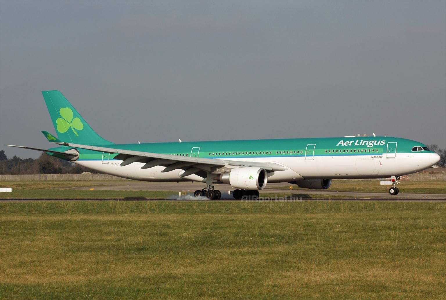 Az Aer Lingus szélestörzsű flottáját Airbus A330-asok alkotják, azonban legkorábban jövőre érkeznek az új Airbus A350-900 repülőgépek. (Fotó: Szalmási Szabolcs - AIRportal.hu) | © AIRportal.hu