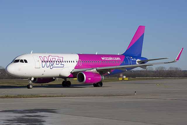 A Wizz Air Airbus A320-as repülőgépe. (Fotó: AIRportal.hu)   © AIRportal.hu
