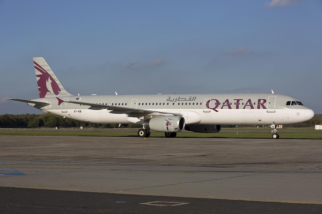 A Qatar Airways A321-ese Budapesten. (Fotó: AIRportal.hu) | © AIRportal.hu