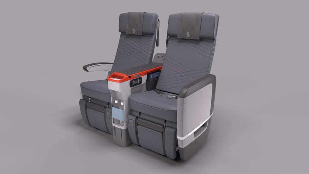 A SIA prémium turista ülése. (Fotó: Singapore Airlines) | © AIRportal.hu
