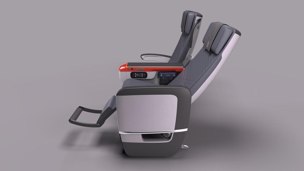 Lábtámasz és hátradöntés az új ülésen. (Fotó: Sinagpore Airlines) | © AIRportal.hu