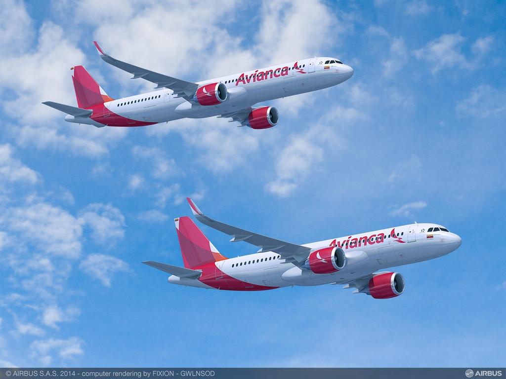 A száz gépes szándéknyilatkozathoz mellékelt Avianca A320neo számítógépes látványterv. (Forrás: Airbus) | © AIRportal.hu