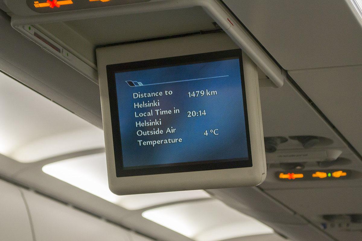 Sok légitársaság rövid távú gépein manapság már a fej felett sincsenek monitorok, vagy ha vannak akkor sem mutatják a járat pozícióját. | © AIRportal.hu