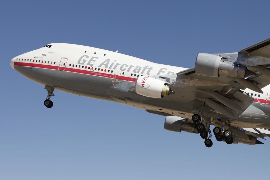 Az első LEAP hajtómű-prototípus októberben még a 45 éves Boeing 747-100-as tesztgéppel emelkedett magasba, de a hajtómű-család berepülési programjában most már az újabb, Boeing 747-400-as repülő próbapad is részt vesz. (Fotó: CFM International)   © AIRportal.hu