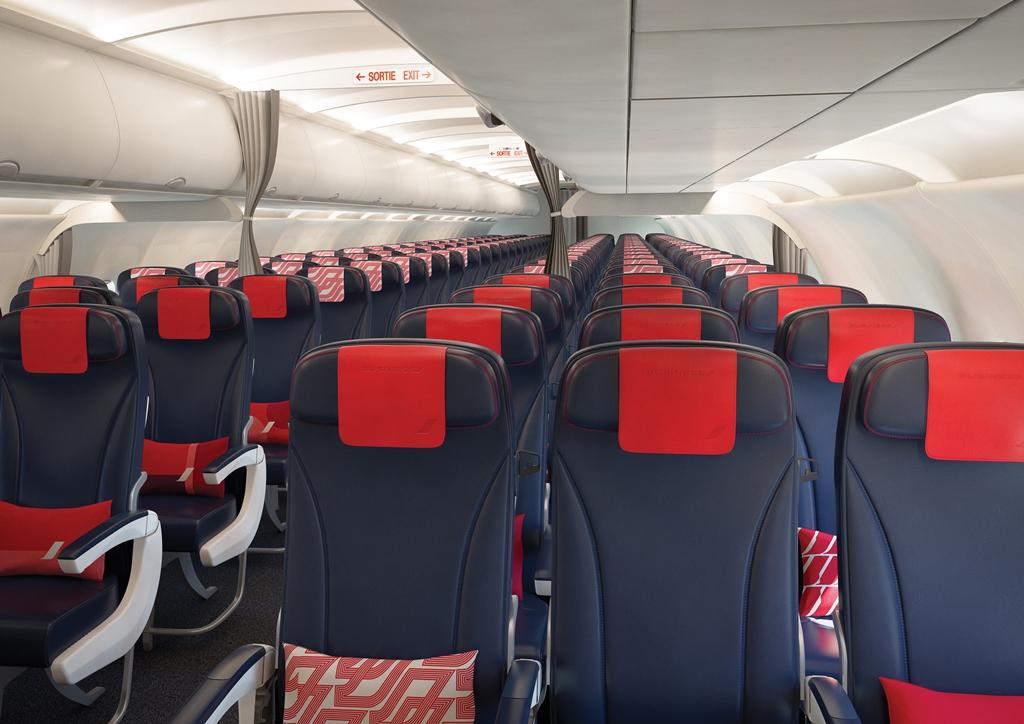 Megújult Air France keskenytörzsű belső. (Fotó: Air France) | © AIRportal.hu