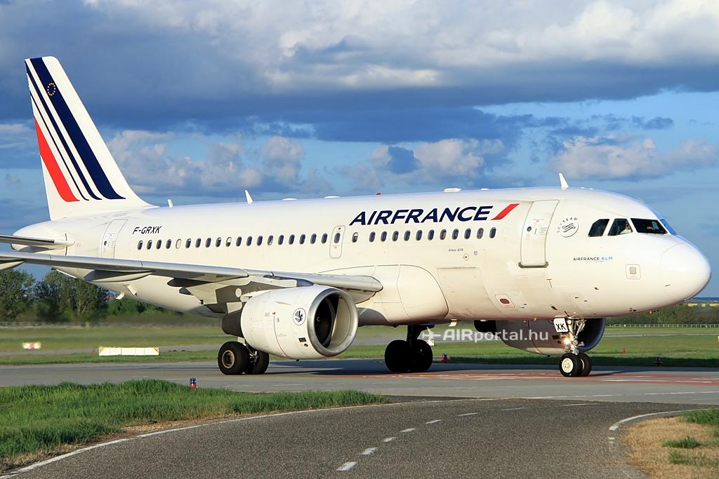Air France Airbus A319-es Ferihegyen. (Fotó: Csemniczky Kristóf - AIRportal.hu) | © AIRportal.hu