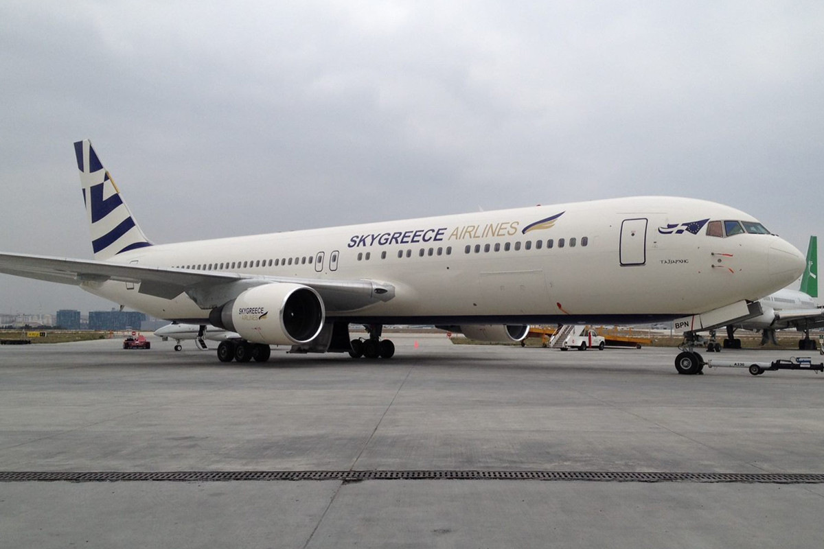 A SkyGreece első és jelenleg egyetlen repülőgépe, az SX-BPN regisztrációjú Boeing B767-31A(ER) (Fotó: SkyGreece Airlines) | © AIRportal.hu