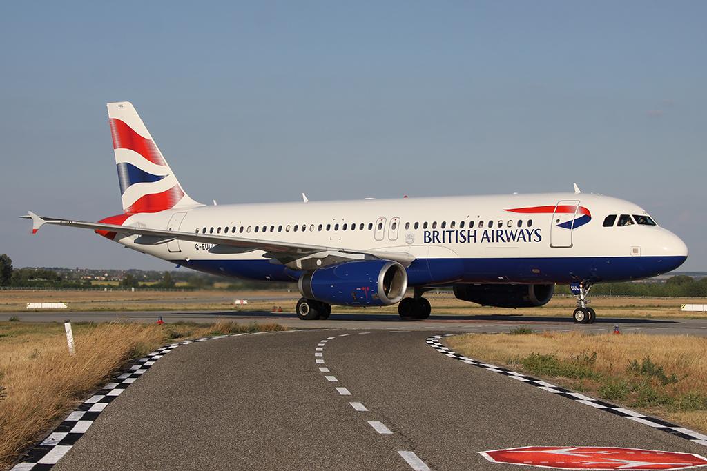 British Airways Airbus A320-200 egyenesen Londonból. (Fotó: Samu Ádám - AIRportal.hu) | © AIRportal.hu