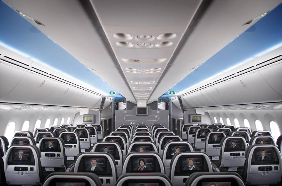 A turista osztály 3-3-3-as ülései. (Fotó: American Airlines) | © AIRportal.hu