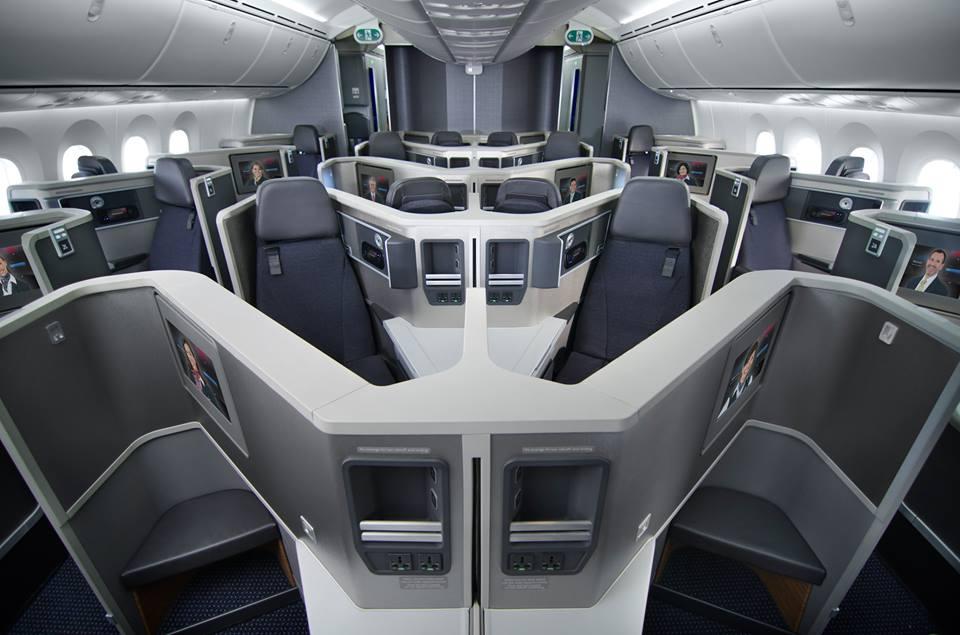 A business class 1-2-1 elrendezésben. (Fotó: American Airlines) | © AIRportal.hu