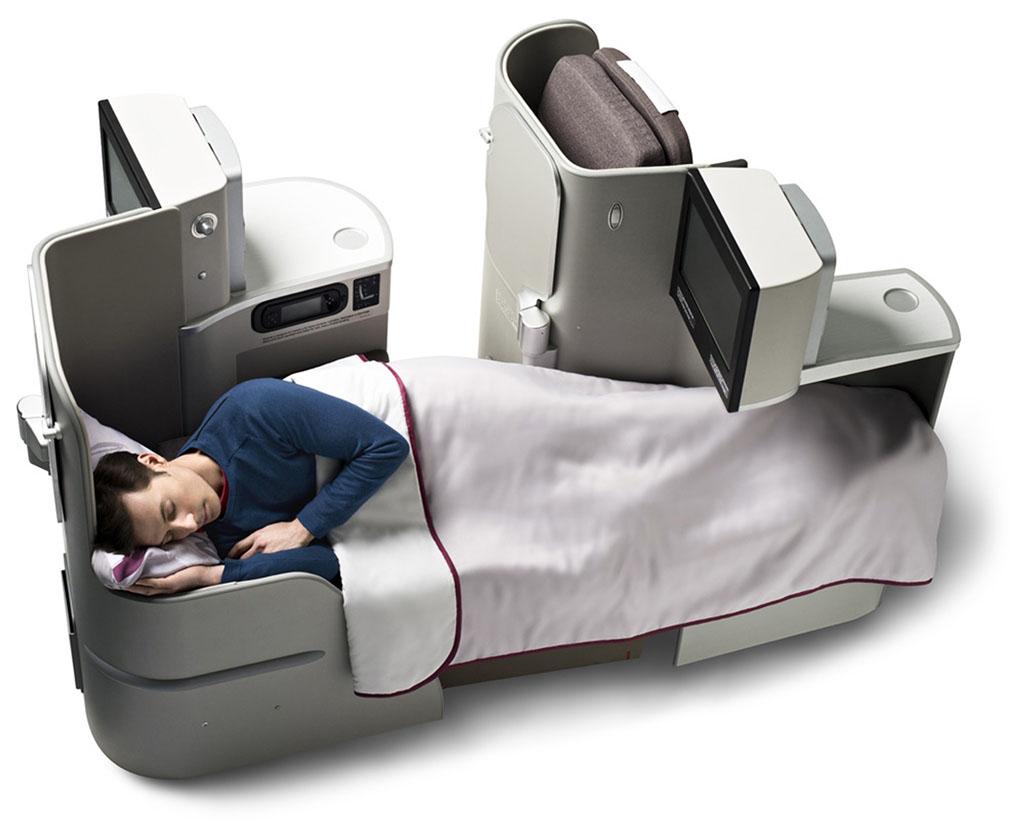 A manapság már nélkülözhetetlen, ággyá alakítható ülés az Iberia üzleti osztályán. (Fotó: Iberia)   © AIRportal.hu