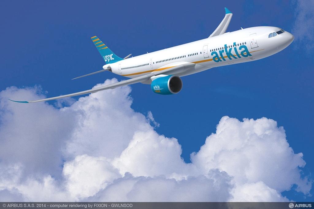 Airbus A330-900neo Arkia látványterv. (Forrás: Airbus)   © AIRportal.hu