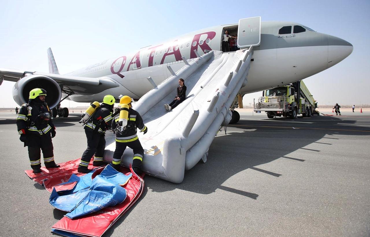 A kerettörténet szerint a landolás során megsérült A330-as fedélzetén 140 utas tartózkodott. (Fotó: Qatar Airways) | © AIRportal.hu