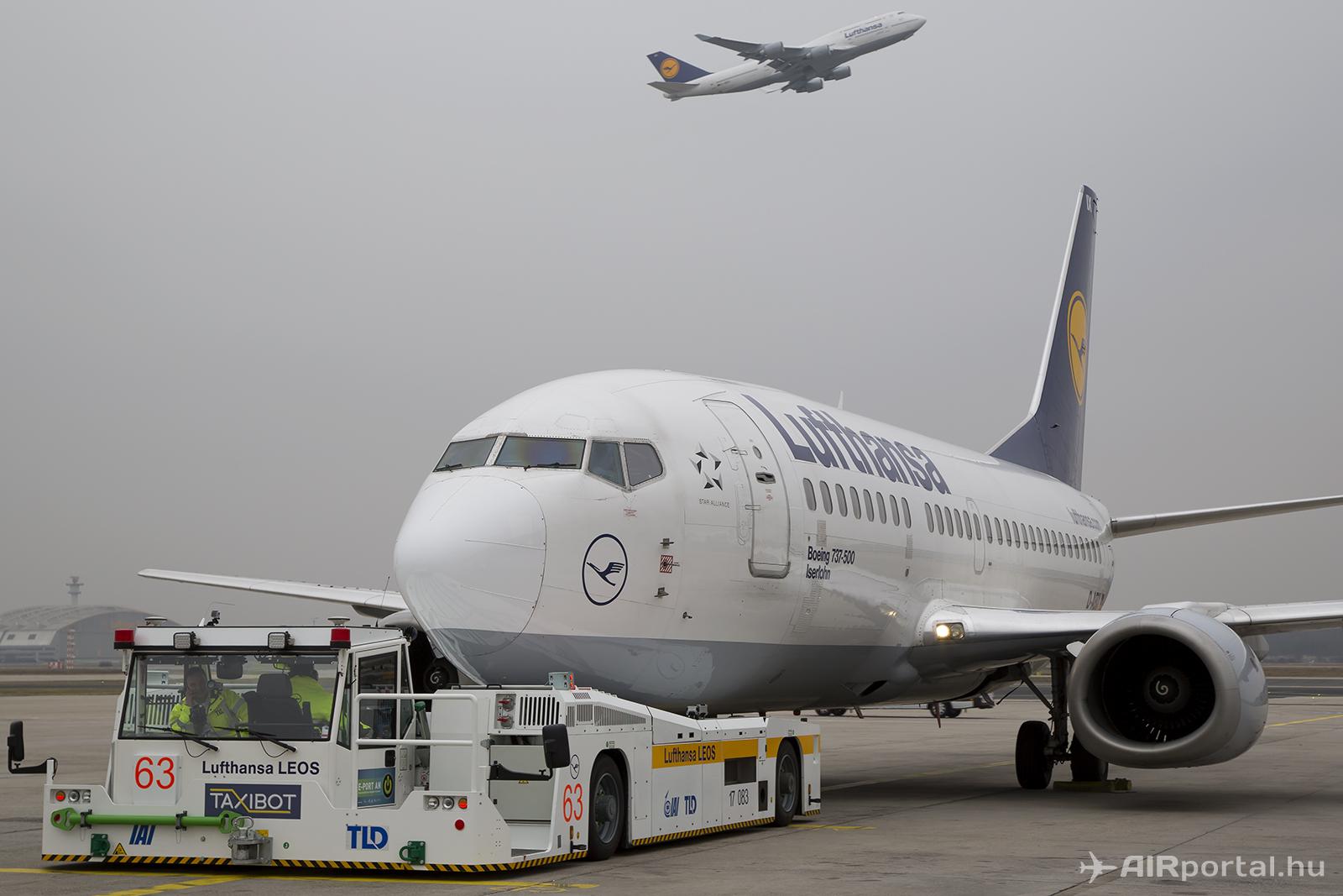 A Lufthansa és az IAI célja, hogy a TaxiBot megszerezze a szükséges engedélyeket a Boeing 747-es típus kiszolgálására is. (Fotók: AIRportal.hu) | © AIRportal.hu