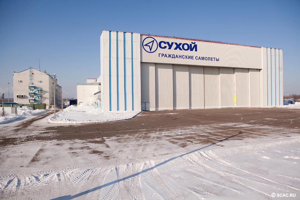 A komszomolszki SSJ-100-as gyárkomplexum. (Fotó: Szuhoj) | © AIRportal.hu