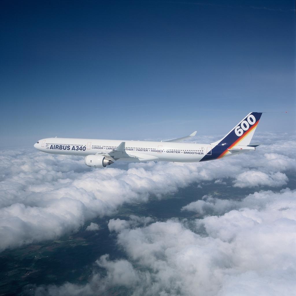 Az A340-600-as a szűzrepülésének napján, 2001. április 23-án. (Fotó: Airbus) | © AIRportal.hu