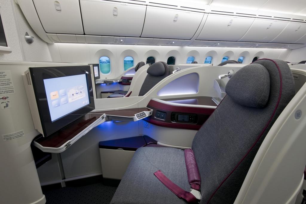 Business Class a B-787-8-as fedélzetén. (Fotó: Qatar Airways) | © AIRportal.hu