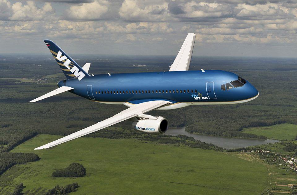 Superjet 100LR számítógépes látványterv. (Forrás: VLM Airlines) | © AIRportal.hu