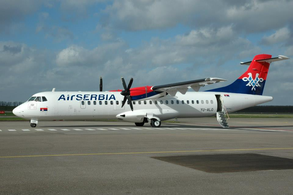 A regionális vonalakon turbolégcsavaros ATR-ek repülnek. (Fotó: Air Serbia) | © AIRportal.hu
