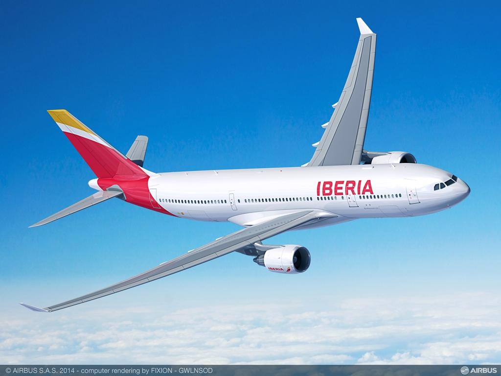 Airbus A330-200 Iberia színekben látványterven. (Forrás: Airbus)   © AIRportal.hu