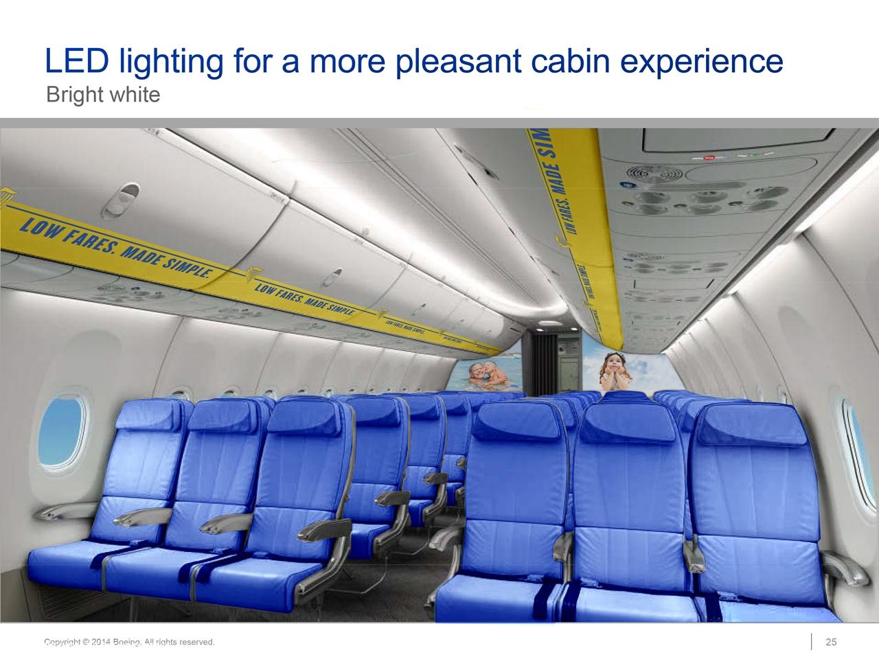 Az új Boeing SkyInterior kabinbelső látványterve. (Forrás: Ryanair) | © AIRportal.hu