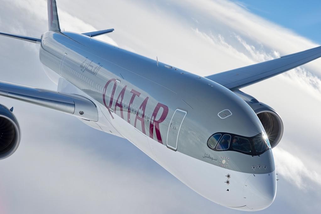 Qatar Airways A350-900XWB repülés közben. (Fotó: Airbus) | © AIRportal.hu