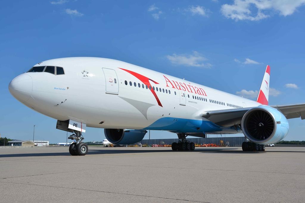 Az Austrian Airlines egyik Boeing 777-200ER gépe. Ez a típus fog közlekedni Miamiba is. (Fotó: Austrian Airlines) | © AIRportal.hu