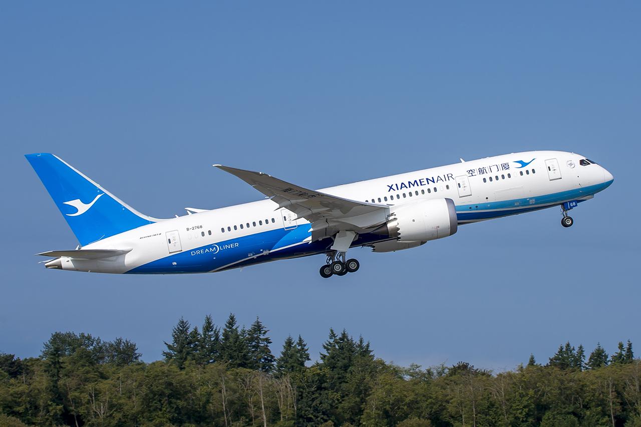 A KLM szorosabbra fűzi kapcsolatait a kínai Xiamen Airlines-szal, a meglévő KLM járatok mellett júliustól a Xiamen 787-ese is repül Amszterdamba. (Fotó: Boeing) | © AIRportal.hu