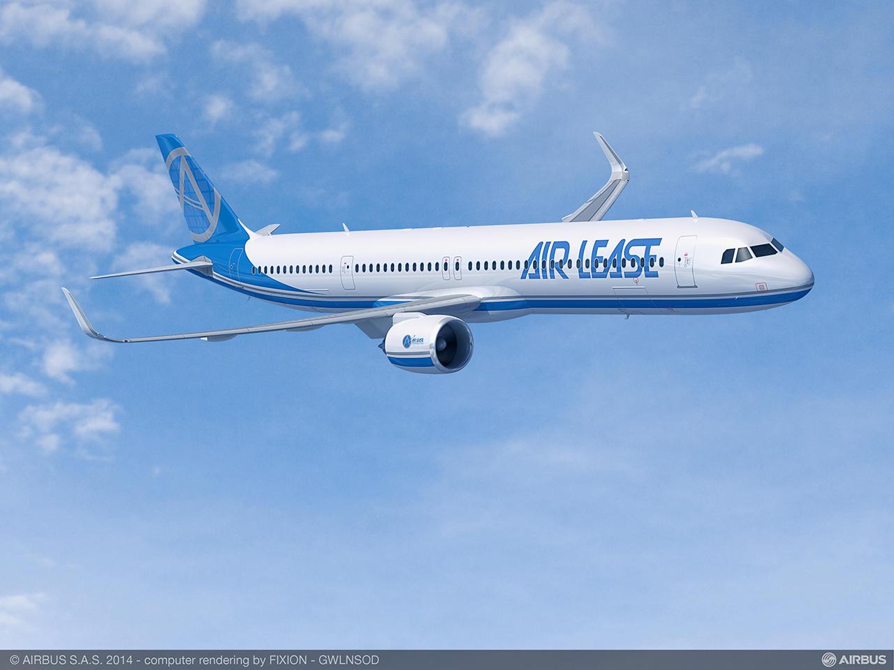 Az A321neo LR látványterve az ALC képzeletbeli festésében (Grafika: Airbus) | © AIRportal.hu