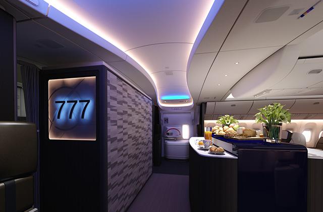 Az új kabinbelsőről egyelőre nem közölt terveket a Boeing, ez itt a jelenlegi katalógusokban szereplő egyik kép. (Fotó: Boeing Company) | © AIRportal.hu