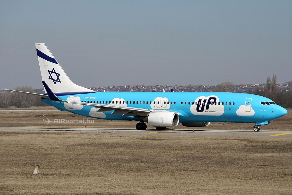 Budapestre tavaly március óta az UP by El Al Boeing 737-800-asai közlekednek. (Fotó: Csemniczky Kristóf - AIRportal.hu) | © AIRportal.hu