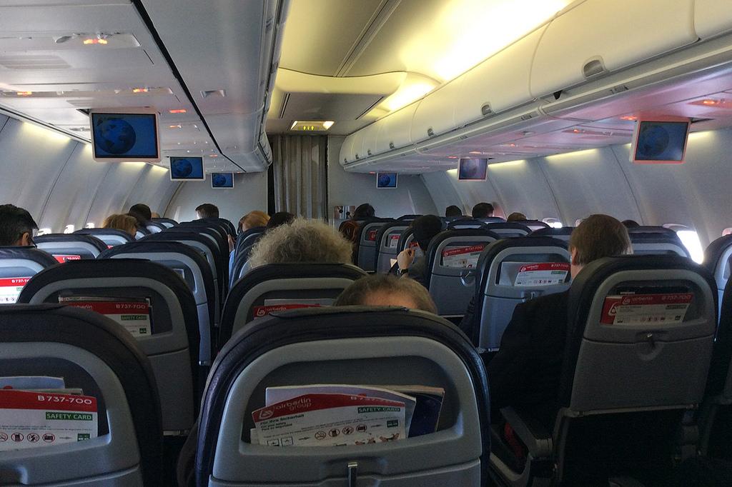 Az Air Berlin 144 üléssel szereli fel a Boeing 737-700-as gépeket.   © AIRportal.hu