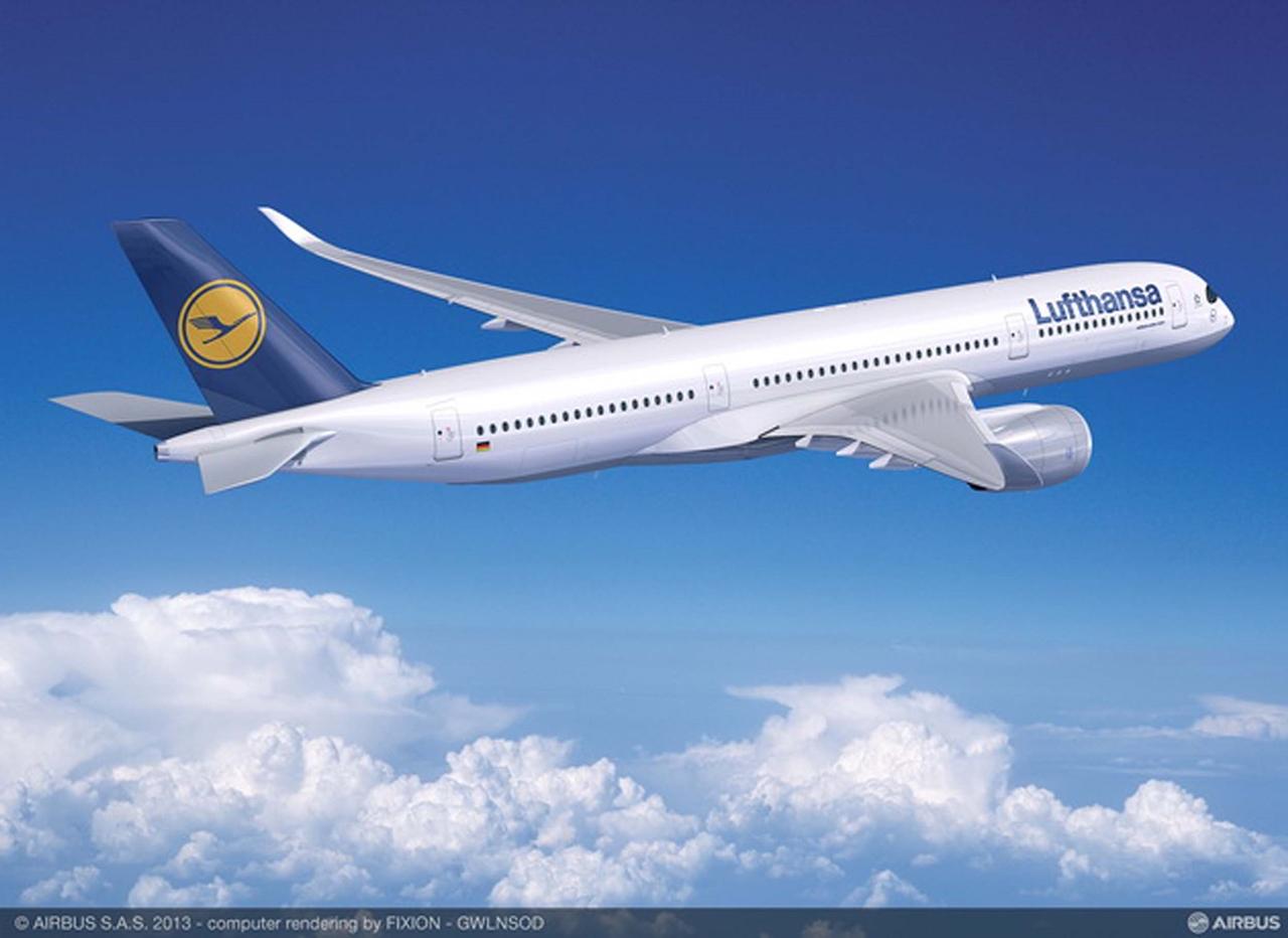 Oldalnézetben az A350-900XWB. (Forrás: Airbus)   © AIRportal.hu