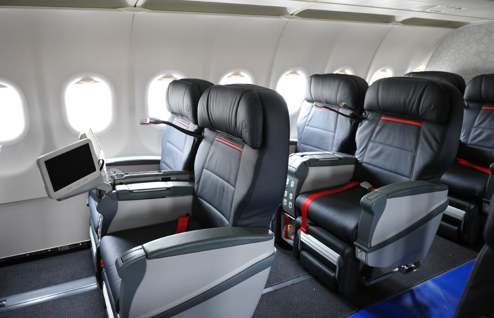 Business osztály a Turkish A321-es Airbusának fedélzetén. (Fotó: Turkish Airlines)   © AIRportal.hu