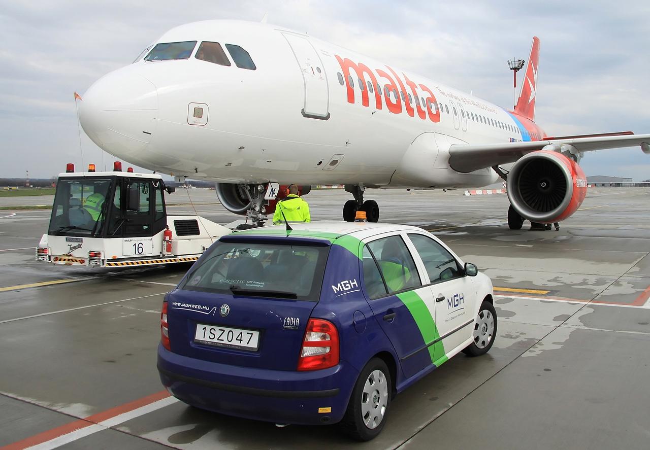 Air Malta-járat MGH általi kiszolgálása Ferihegyen. (Fotó: Csemniczky Kristóf - AIRportal.hu) | © AIRportal.hu
