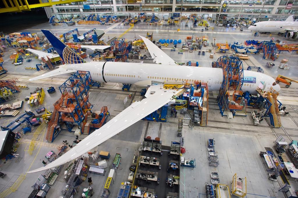 Az egykori első fotó a végszerelősoron lévő első dél-karolinai Boeing 787-9-esről. (Fotó: Boeing Company) | © AIRportal.hu
