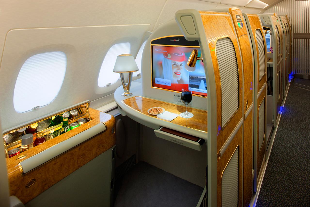 First Class suite az Emirates Airbus A380-as gépén. (Fotó: Emirates)   © AIRportal.hu