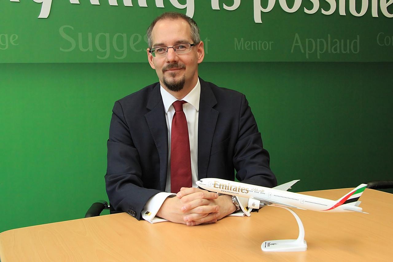 Horváth Gábor, az Emirates magyarországi country managere. (Fotó: Csemniczky Kristóf - AIRportal.hu)   © AIRportal.hu