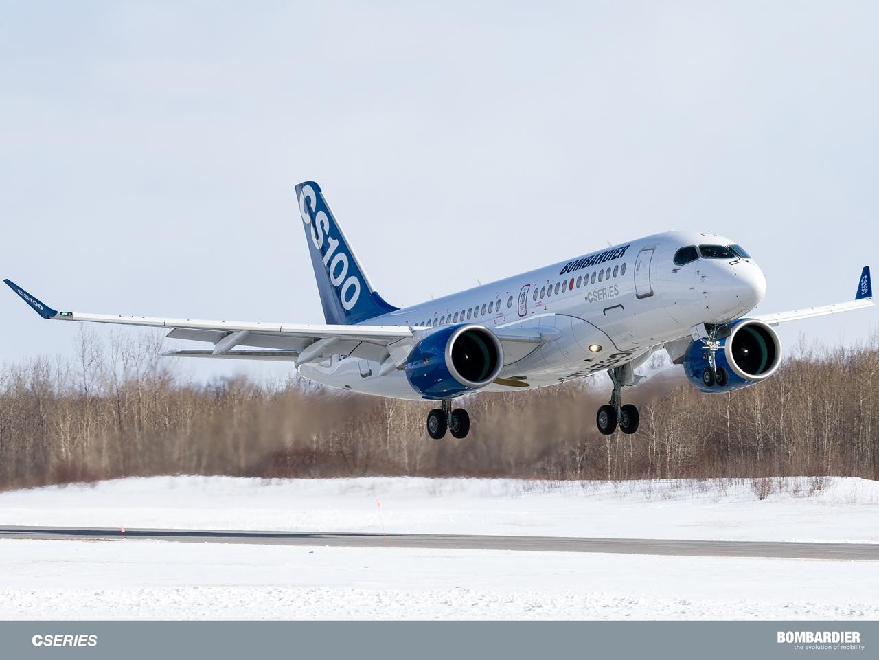 Az FTV5 felszállása Mirabelből, 2015. március 18-án. (Fotó: Bombardier) | © AIRportal.hu