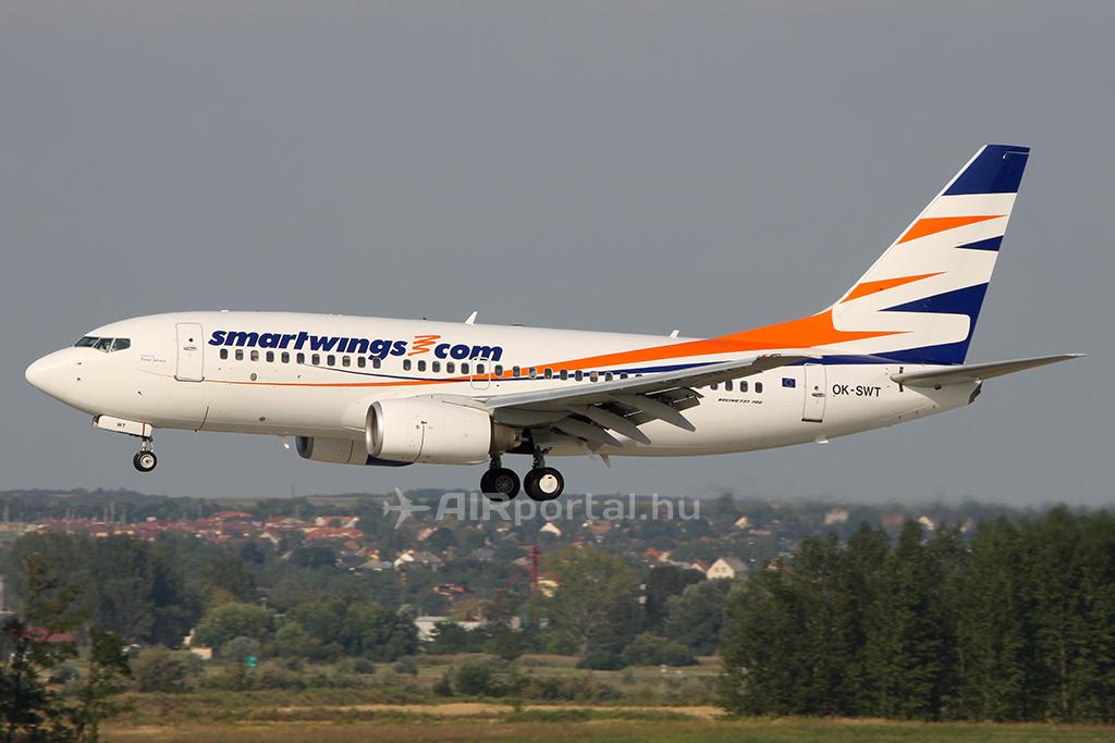 A Smartwings Boeing 737-700-as repülőgépe, amely korábban a Malév flottájában repült. (Fotó: AIRporral.hu) | © AIRportal.hu