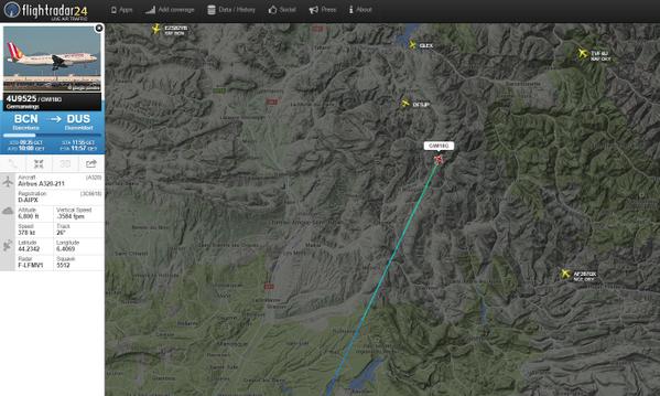 A járat utolsó radar-pozíciója a flightradar24 radarképén. | © AIRportal.hu