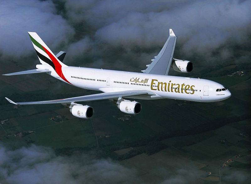 Az Emirates vadonatúj A340-500-asa az Airbus 2003-as fotóján. (Forrás: Airbus)   © AIRportal.hu