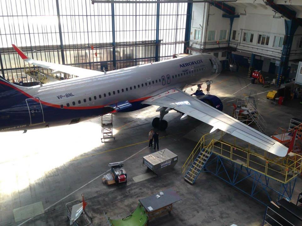 Az Aeroflot közlése szerint a szárnyvég cserét Prágában végeztetik. (Fotó: Aeroflot) | © AIRportal.hu