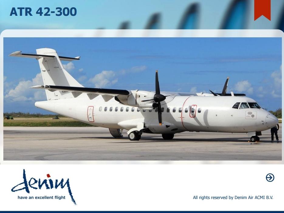 ATR 42-300 a Denim Air katalógusában. (Forrás: Denim Air) | © AIRportal.hu