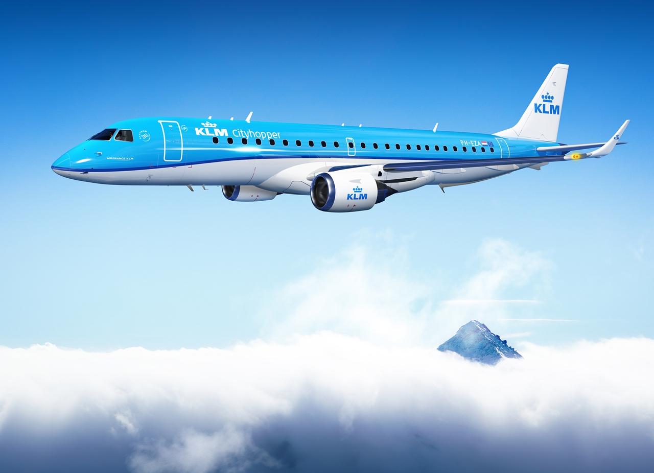 Embraer E-175 másik látványterven. (Forrás: KLM Royal Dutch Airlines) | © AIRportal.hu