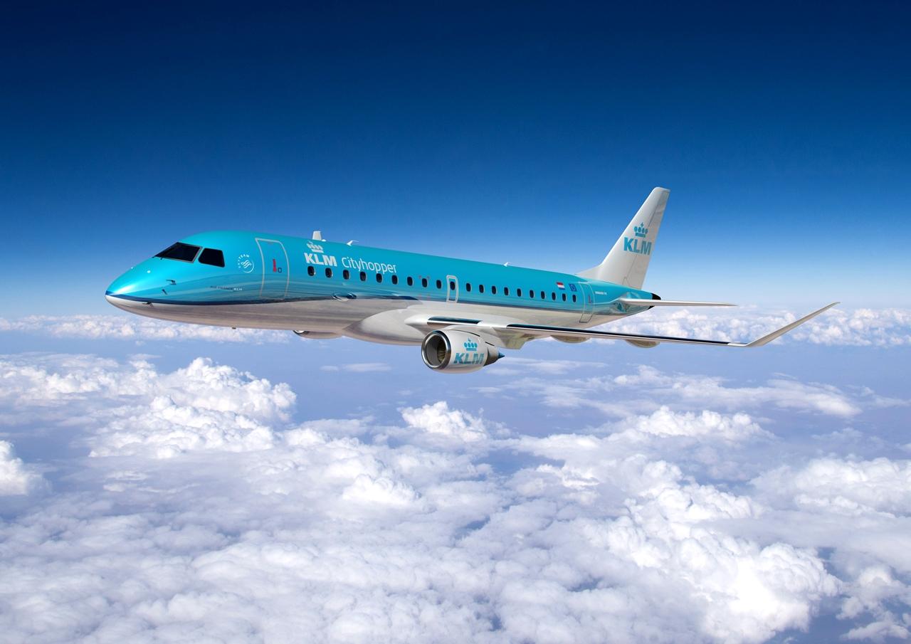 Embraer E-Jet látványterv KLM Cityhopper színekben. (Forrás: Emraer) | © AIRportal.hu